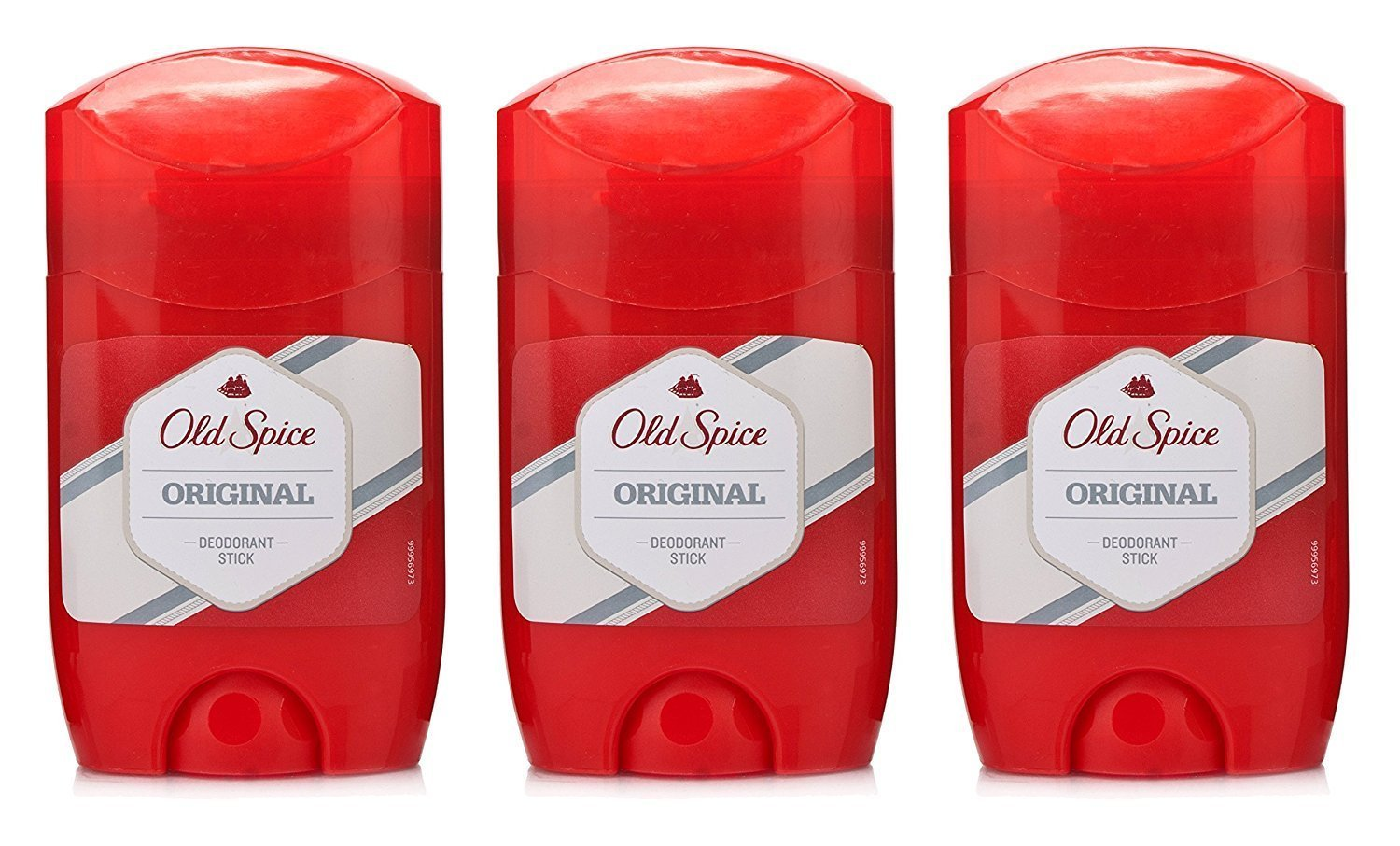 THREE PACKS of Old Spice Original Deodorant/Stick