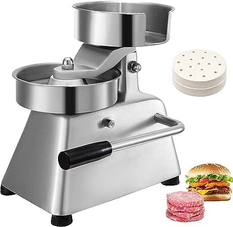 VEVOR Burgerpresse Edelstahl mit Durchmesser von 130mm Burger Patti Presse Burger Former kommerziell Hamburger Presse einfach zu bedienen und reinigen