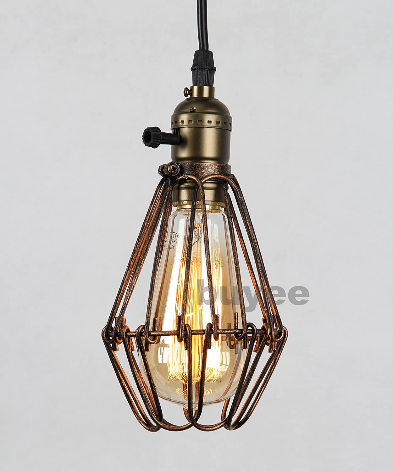Buyee modern vintage industrial opening and closing birdcage loft metal fixture brown rustic pendant light fittingsbronze 1 pendant light 1 bulb