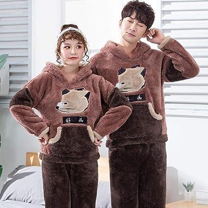 Bayrick Pijama de Hombre Invierno Polar,Cute Dibujos Animados ...