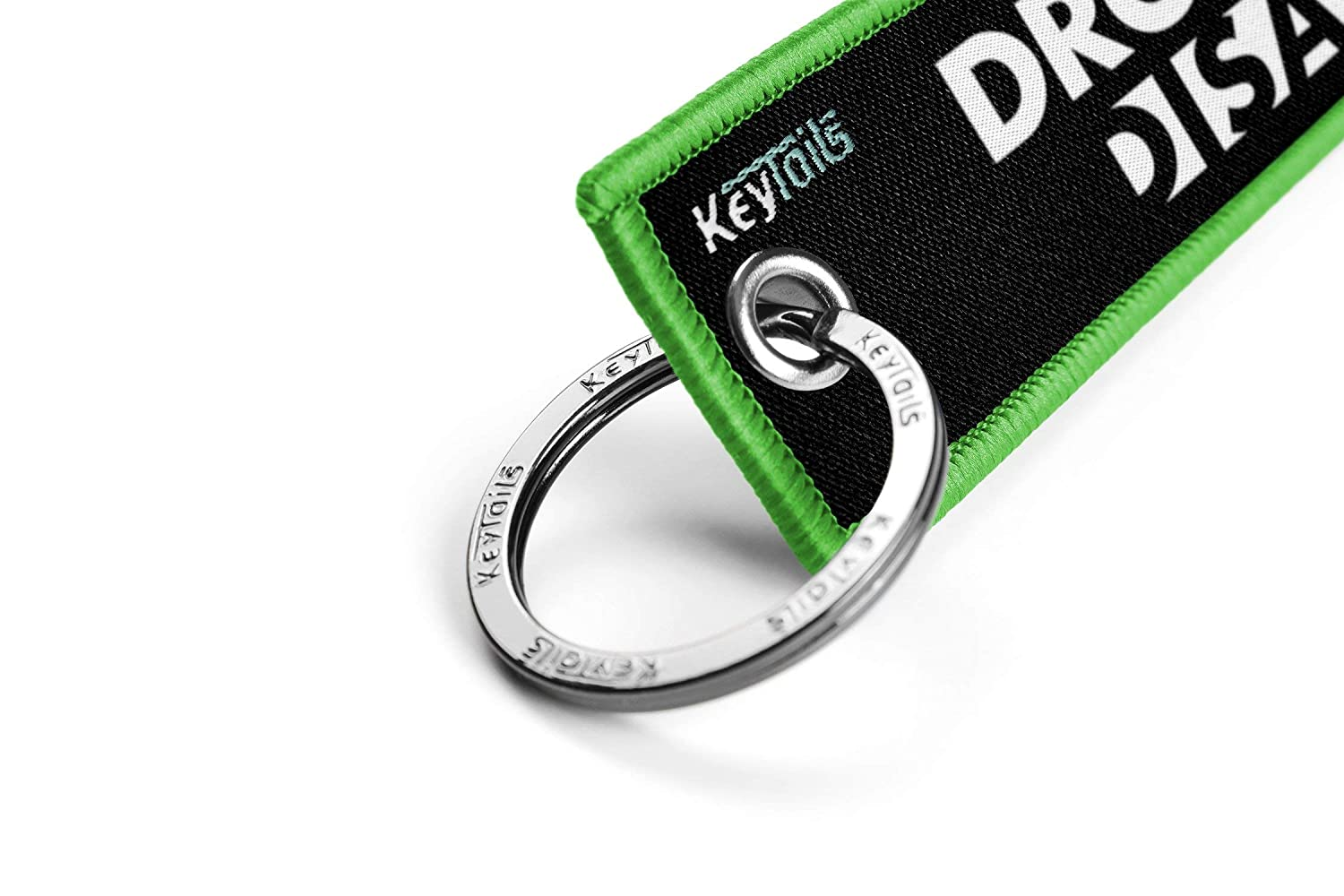 KEYTAILS Keychains Premium Quality Key Tag for Motorcycle Scooter Built Not Bought UTV ATV Car