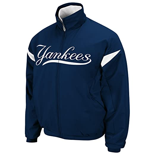 Majestic MLB New York Yankees Triple Peak Premier Youth Jacket, Midnight Navy/White,