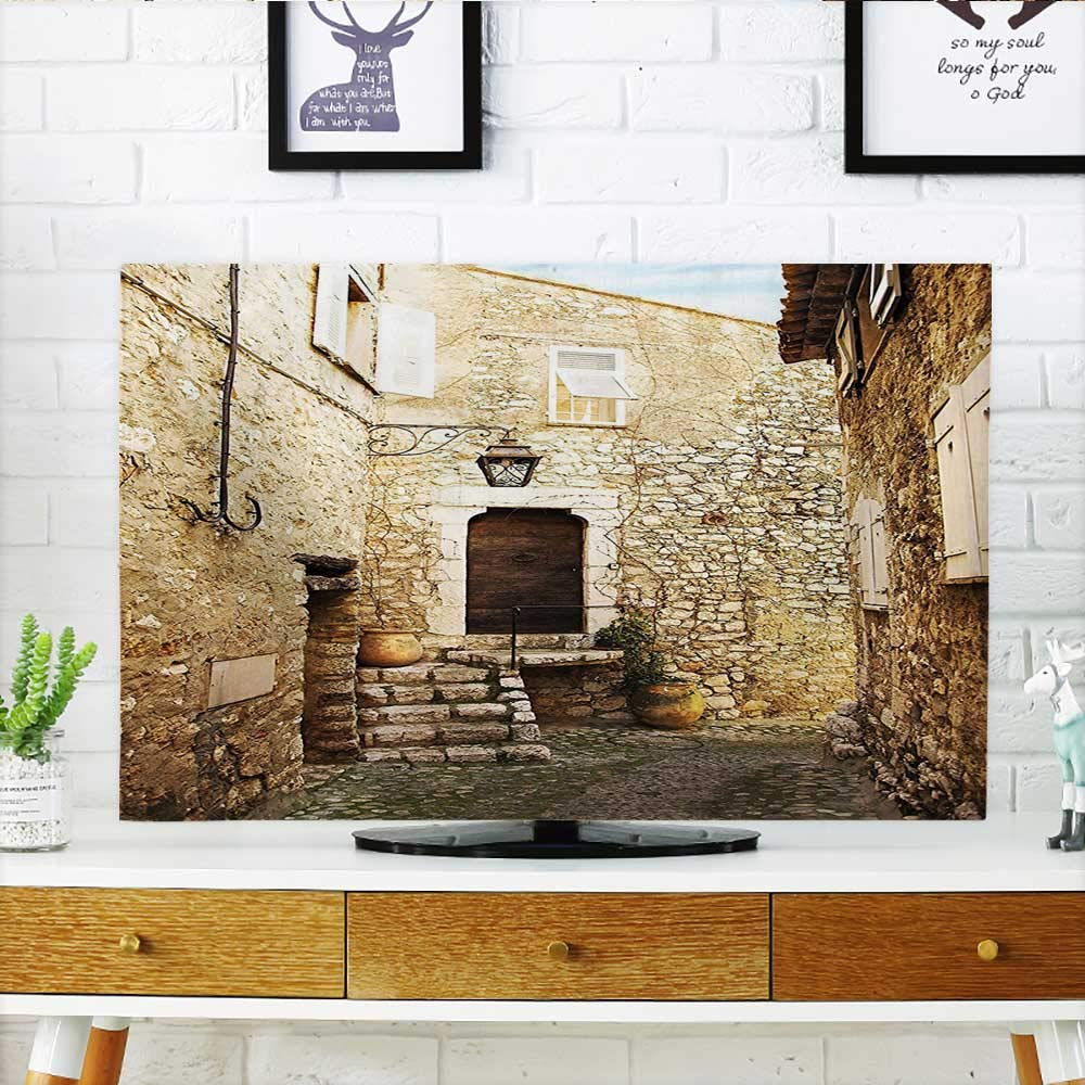 Leighhome Protect Your TV Confined Cobble Street Sandstones and Shutter Windows Travel Tourist Protect Your TV W19 x H30 INCH/TV 32''