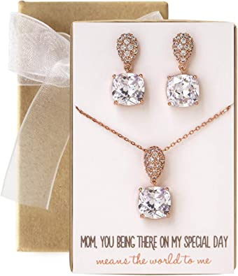Pearl Earrings and Necklace Set N523-S Mother of the Groom Gift Mother of the Bride Jewelry