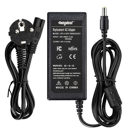 Sunydeal - Cargador Adaptador 65W para Ordenador Portátil ACER, 19V 3.42A, 5.5x1