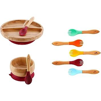 Avanchy Bamboo /& Silicone Baby Feeding Fork