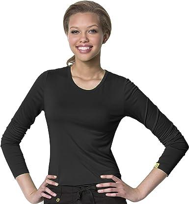 WonderWink Women/'s Silky Long Sleeve Knit Tee