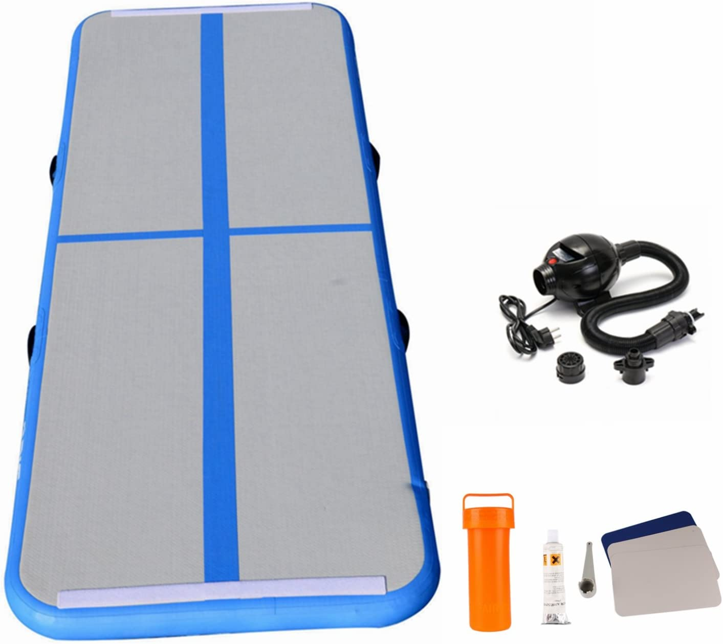 RameyStore Inflatable Gymnastics Tumbling Mat Air Floor Floating Boat for Home Use, Cheerleading, Beach, Park and Water