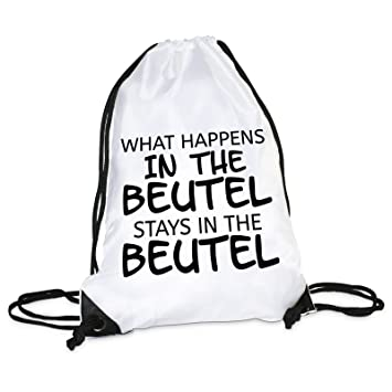 7facf335663e4 Lieblingsmensch Lieblingsmensch Turnbeutel Modell  What Happens in The  Beutel Drawstring Bag