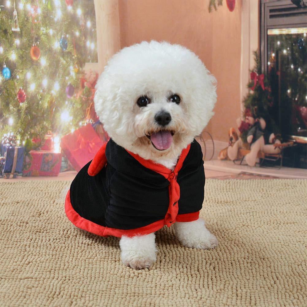 Ropa para perros de Halloween Capa Algodón Sudaderas con capucha Ropa para mascotas Moda Traje de cosplay Traje de poliéster Disfraces Disfraces Decoraciones festivas lindas Mascotas Gato Cálido