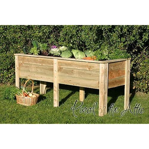 Large Garden Wooden Raised Bed Vegetable Trough Planter (Deep Root Planter  1.8m)