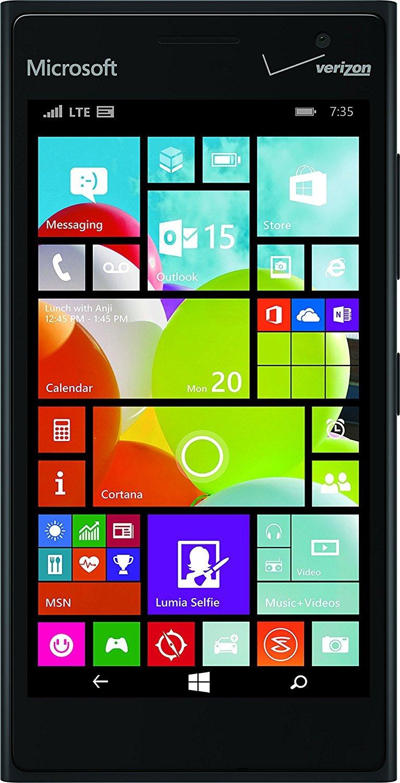 Nokia Lumia 735 Verizon Wireless (CDMA) Windows Smartphone w/ Zeiss Optics Camera - Black (Renewed)