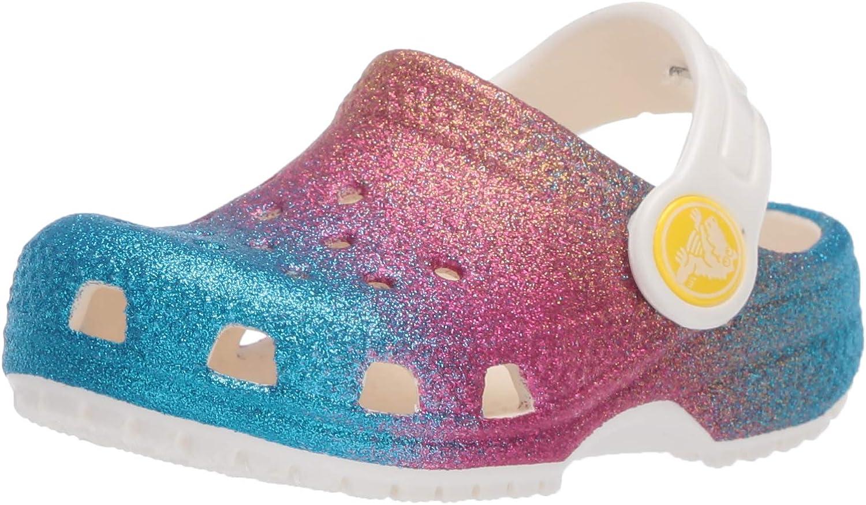 Infradito per Il Tempo Libero e Abbigliamento Sportivo Unisex per Bambini Crocs Classic Ombre Glitter Clog K