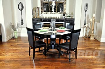 The Nighthawk Round Card Table + Dining Top + 4 Dining Chairs