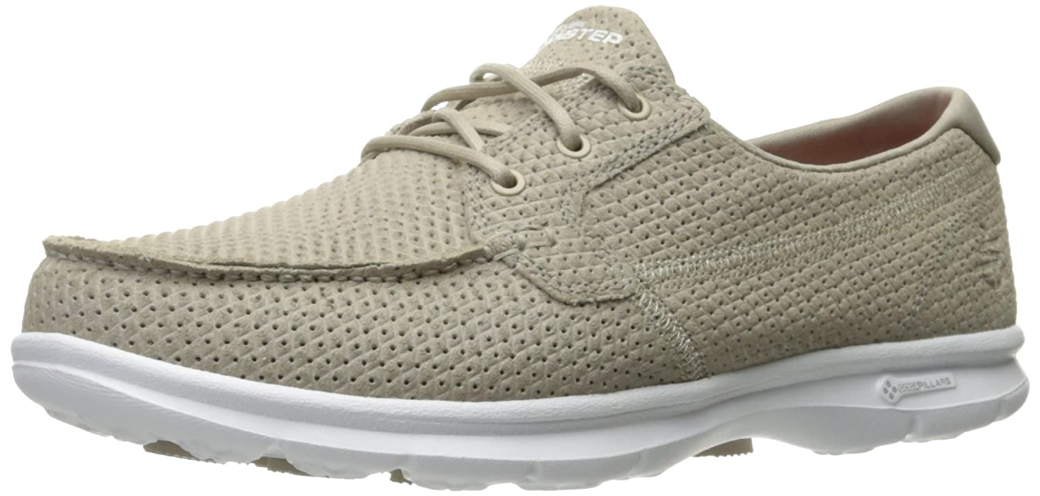 Skechers Performance Women's Go Step-Keen Boating Shoe, Taupe, 10 M US