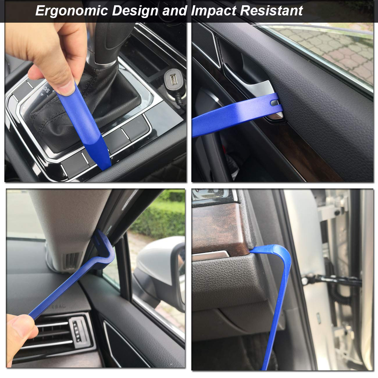 Upholstery Toolkit 12Pcs Auto Panel Removal Tool Car Interior Trim Kit Fastener Rivet Remover Plastic Pry Tool for Automotive Radio Stereo Dash Kitbest Trim Removal Tool