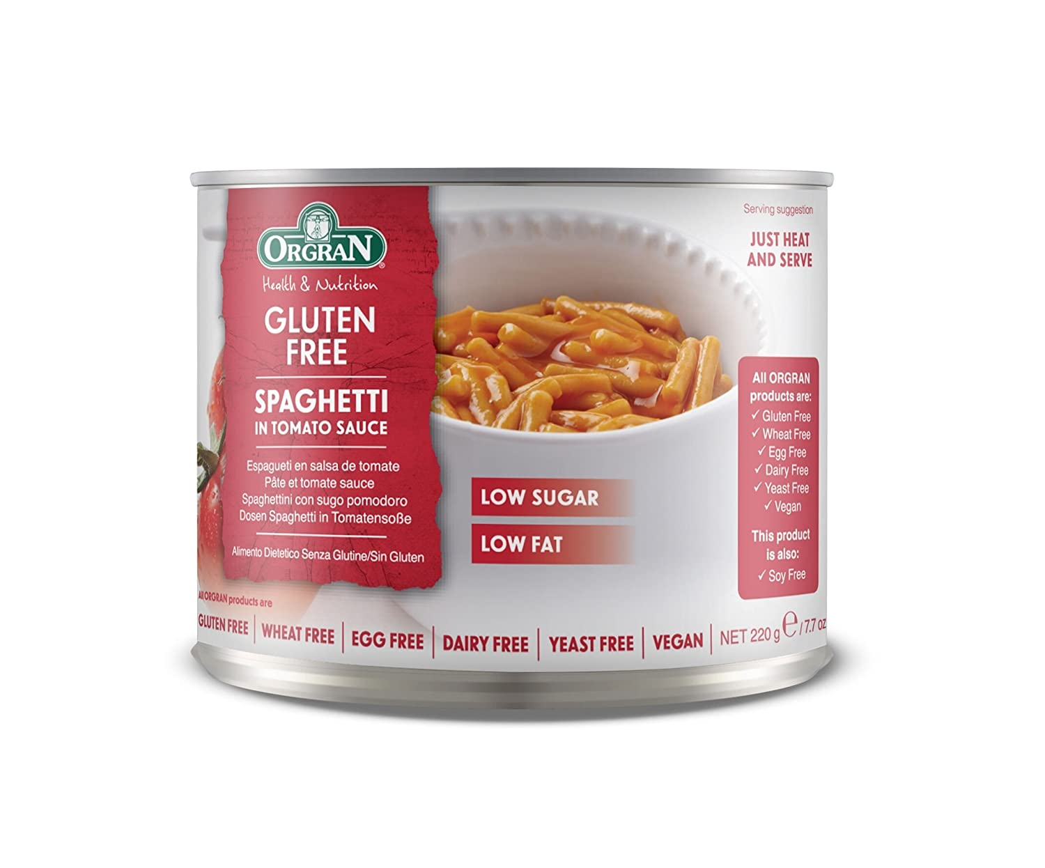 Amazon.com : OrgraN Spaghetti in Tomato Sauce, 7.7-Ounce Cans (Pack of 12) : Prepared Spaghetti : Grocery & Gourmet Food