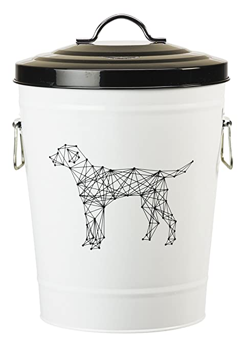 Amici Pet, A7YY022BR, Zentangle Collection Dog Metal Storage Bin, Food  Safe, Push