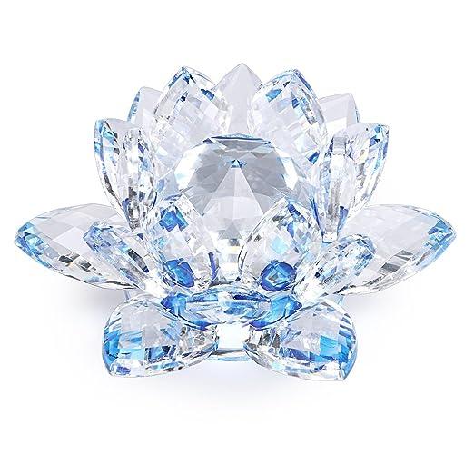 SUMNACON flor de Lotus cristal, Dia 100 mm (4 pulgadas)-para ...
