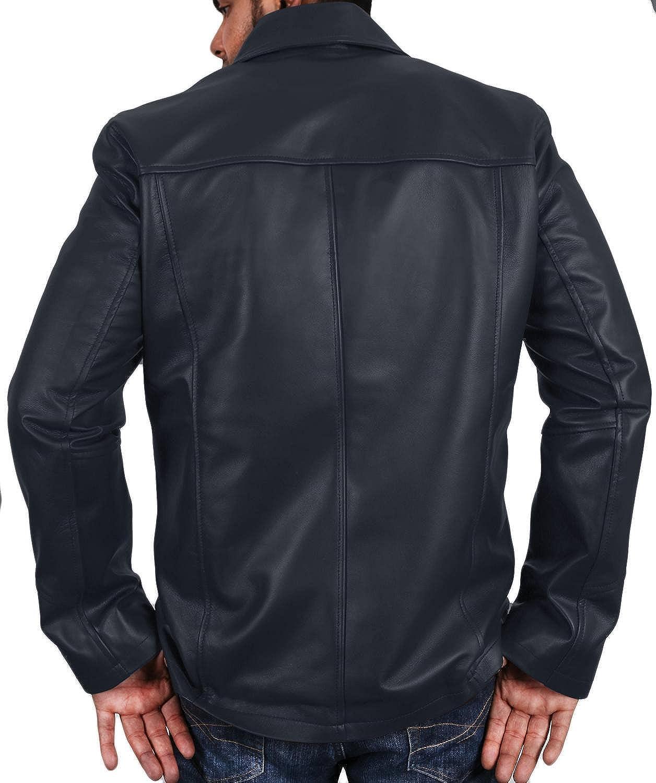 Laverapelle Mens Genuine Lambskin Leather Jacket 1501827 Black, Officer Jacket