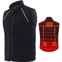 Vinmori Vest Gilet Chauffant électrique pour Femmes et Hommes Taille Lavable Réglable Chargement USB (Ne Contient Pas de Batterie) Vêtements Chauffants pour Moto Motoneige Vélo Randonnée Golf