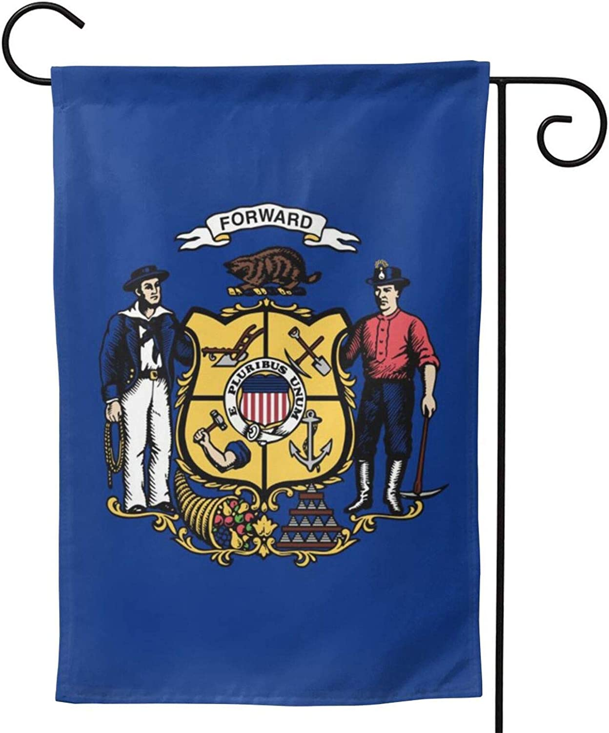 ainidamiss Massachusetts Ma Double Sided Garden Flag, Premium Material, Outdoor Decorative Small Flags for Home House Garden Yard Lawn Patio, 12.5 x 18.5 inc