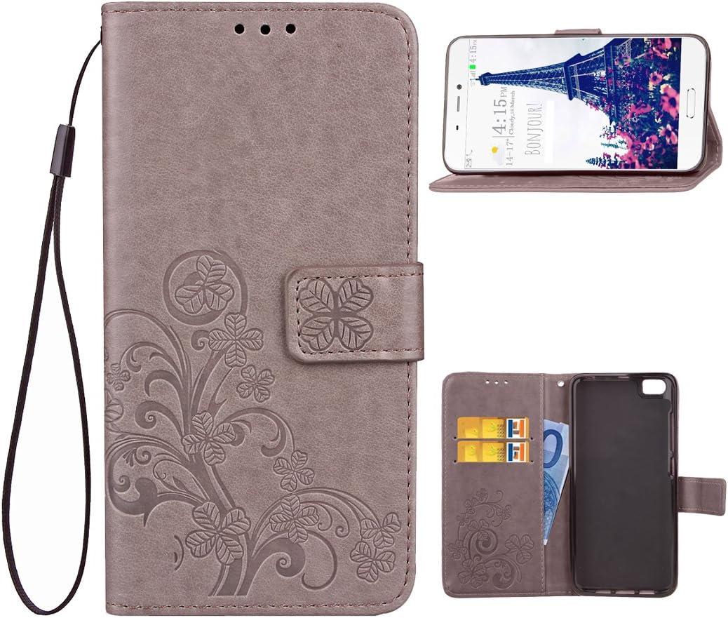 Xiaomi MI 5 Cuero Funda, Xiaomi5 Fundas, Xiaomi Mi5 Repujado Flip Billetera Carcasa, Moon mood® PU Leather Cuero Libro Funda para Xiaomi Mi5 Smartphone, Elegante Funda Piel Cáscara Cobertura Bumper: Amazon.es: Belleza