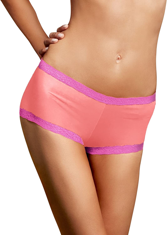 Maidenform Womens Microfiber Lace Boyshort Panty