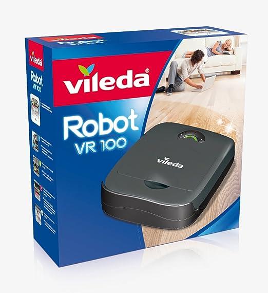 Vileda VR 100 Robot Aspirador, Antracita, 32 x 28 x 9 cm: Amazon ...