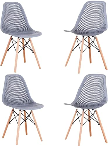Set of 4 Modern Style Dining Chair Mid Century White Modern Chair Plastic Chair