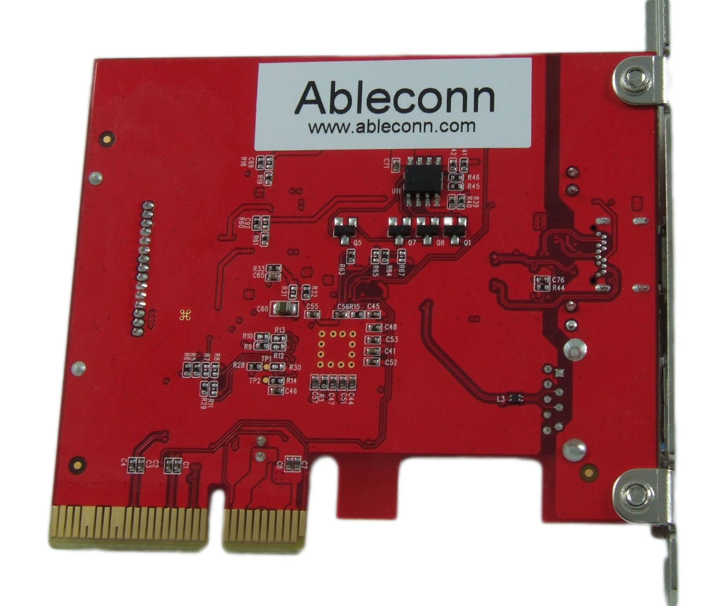 Ableconn PU31-1A1C USB 3.1 Gen 2 (10 Gbps) Type-C & Type-A PCI Express (PCIe) x4 Host Adapter Card - Dual USB3.1 10Gbps With One USB-C and One USB-A - Support Mac OS X 10.12/10.13 and Windows 10/8 by Ableconn