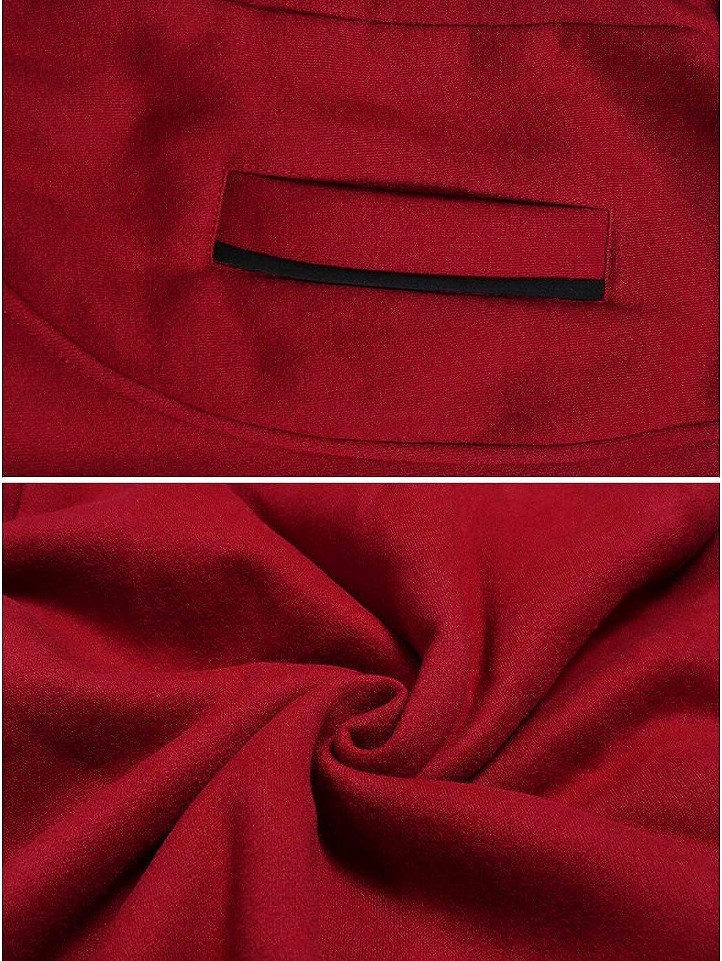 Jenkoon Womens Casual Full Zip Fleece Hoodie Sherpa Lined Mid-Long Warm Jacket Coat