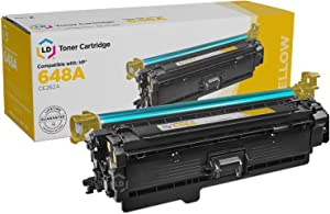 LD Remanufactured Toner Cartridge Replacement for HP 648A CE262A (Yellow)