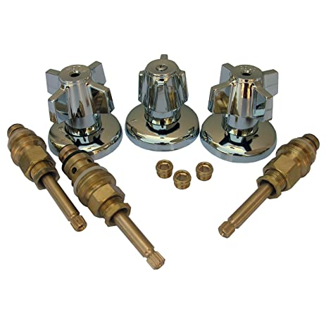 LASCO 01-9481 Sterling Old Style Three Valve Tub and Shower Trim ...