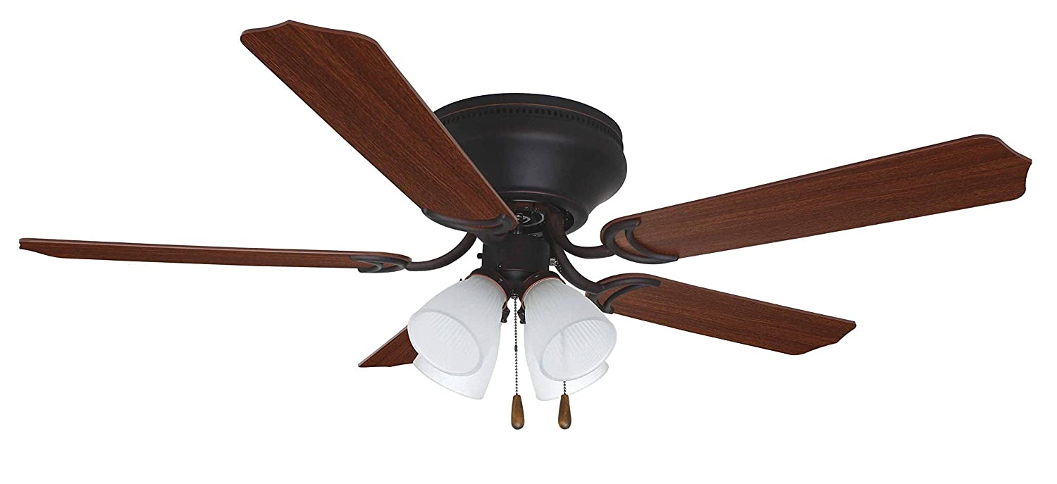 Craftmade flush mount ceiling fan with light brc52ww5c brilliante craftmade flush mount ceiling fan with light brc52ww5c brilliante white 52 inch hugger ceiling fans amazon mozeypictures Gallery