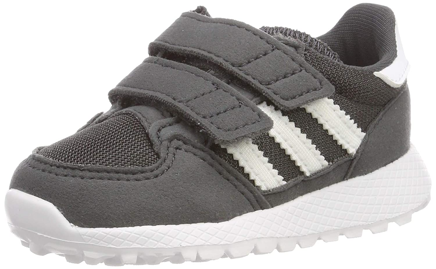 adidas Originals Forest Grove CF I Black Synthetic Suede Infant Trainers