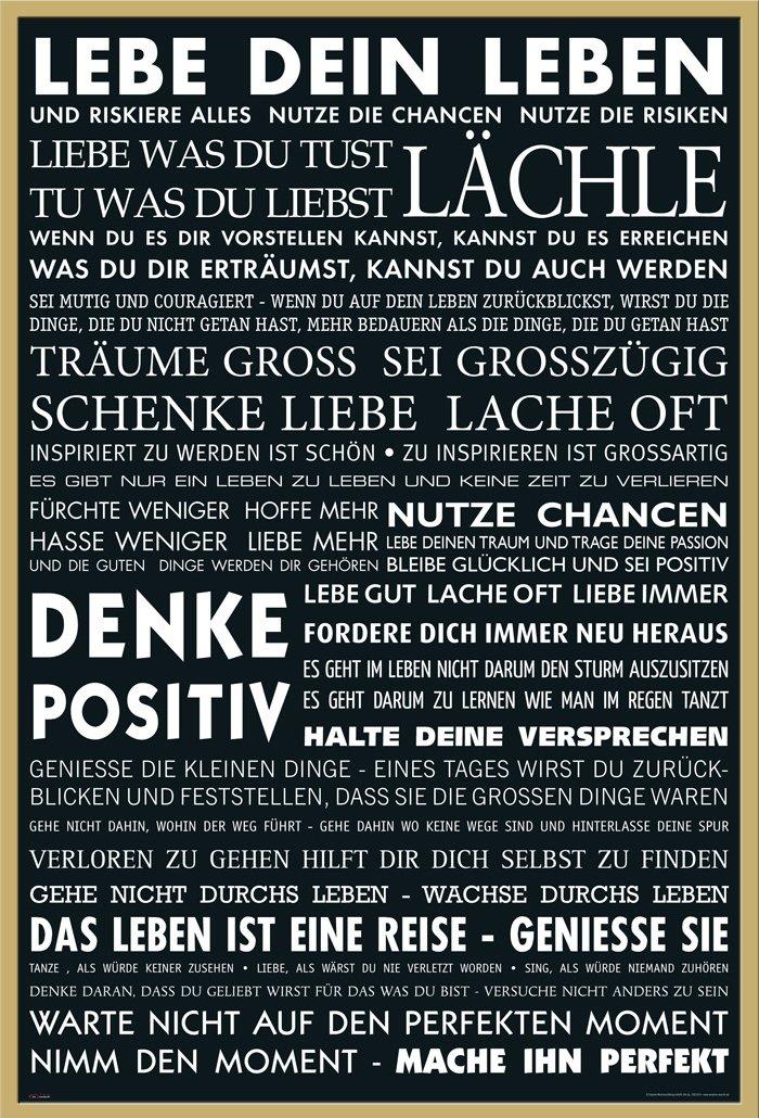 Motivational Lebe Dein Leben Schwarz Zitate Spruche