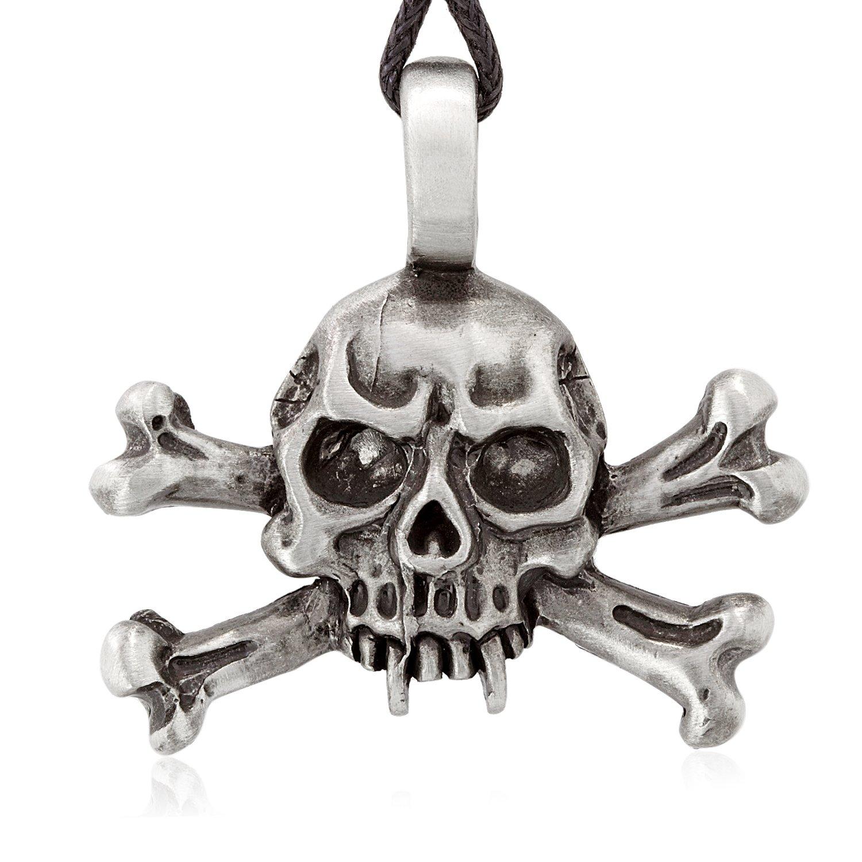 Amazon dans jewelers skull and crossbones pendant necklace amazon dans jewelers skull and crossbones pendant necklace silver plated clasp fine pewter jewelry jewelry aloadofball Gallery