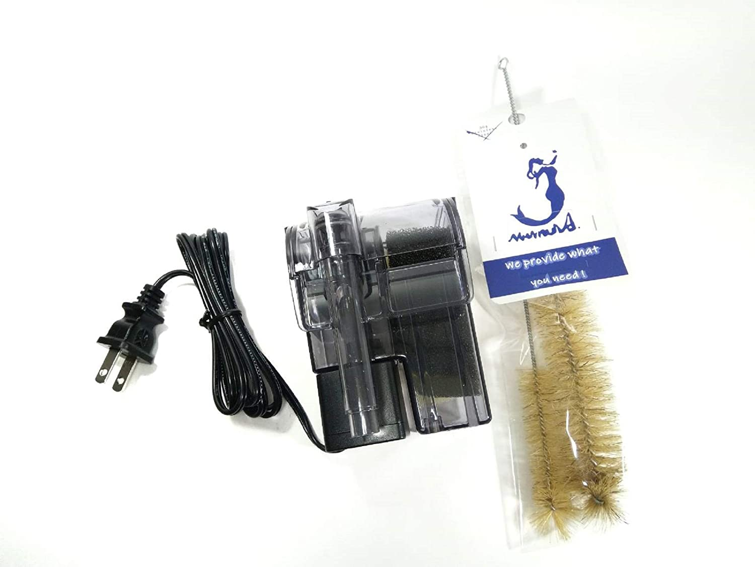 Azoo Aquarium Equip Mignon Filter 60 and Filter Cleaning Brush Set with Stainless Steel