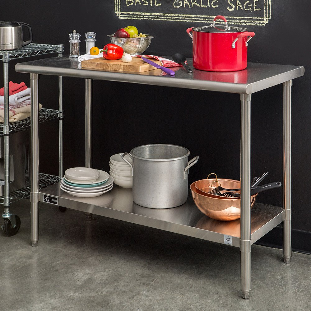 amazon com work bench kitchen island dining stainless steel