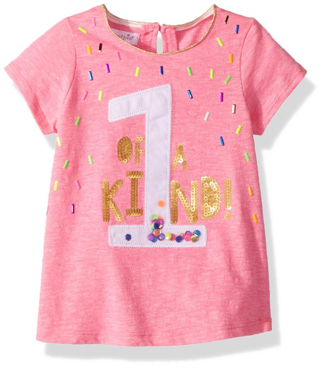 Mud Pie Baby Girls First Birthday Short Sleeve T-Shirt, Pink, 12-18 Months by Mud Pie