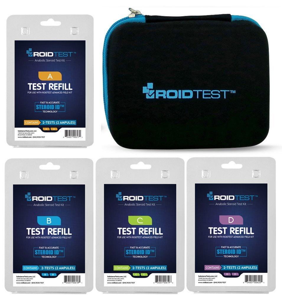 ROIDTEST''Stocked Starter Set'' - Complete Steroid Testing Field Kit with 4 Refill Packs
