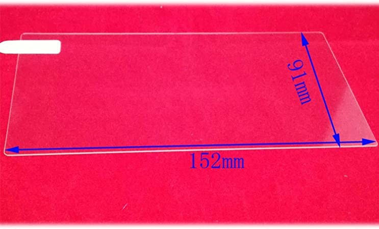 wall-8-CC - Protector de Pantalla Universal de Cristal Templado para Tablet Ereader Ebook Carbrowning DVD Stereo Radio (7