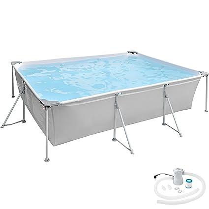TecTake 800580 Piscina, Swimming Pool, Construcción Robusta, Fácil Montaje, Varios Modelos-