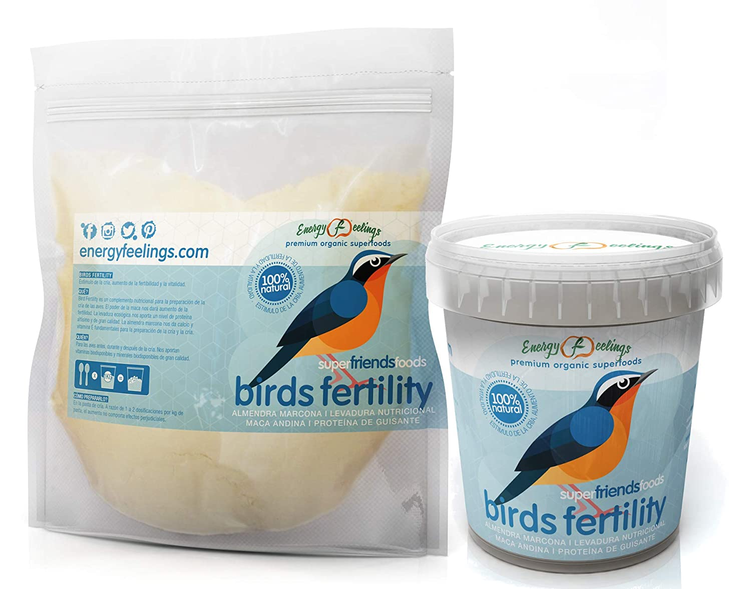 Energy Feelings Bird Fertility Pack - 1000 gr: Amazon.es ...