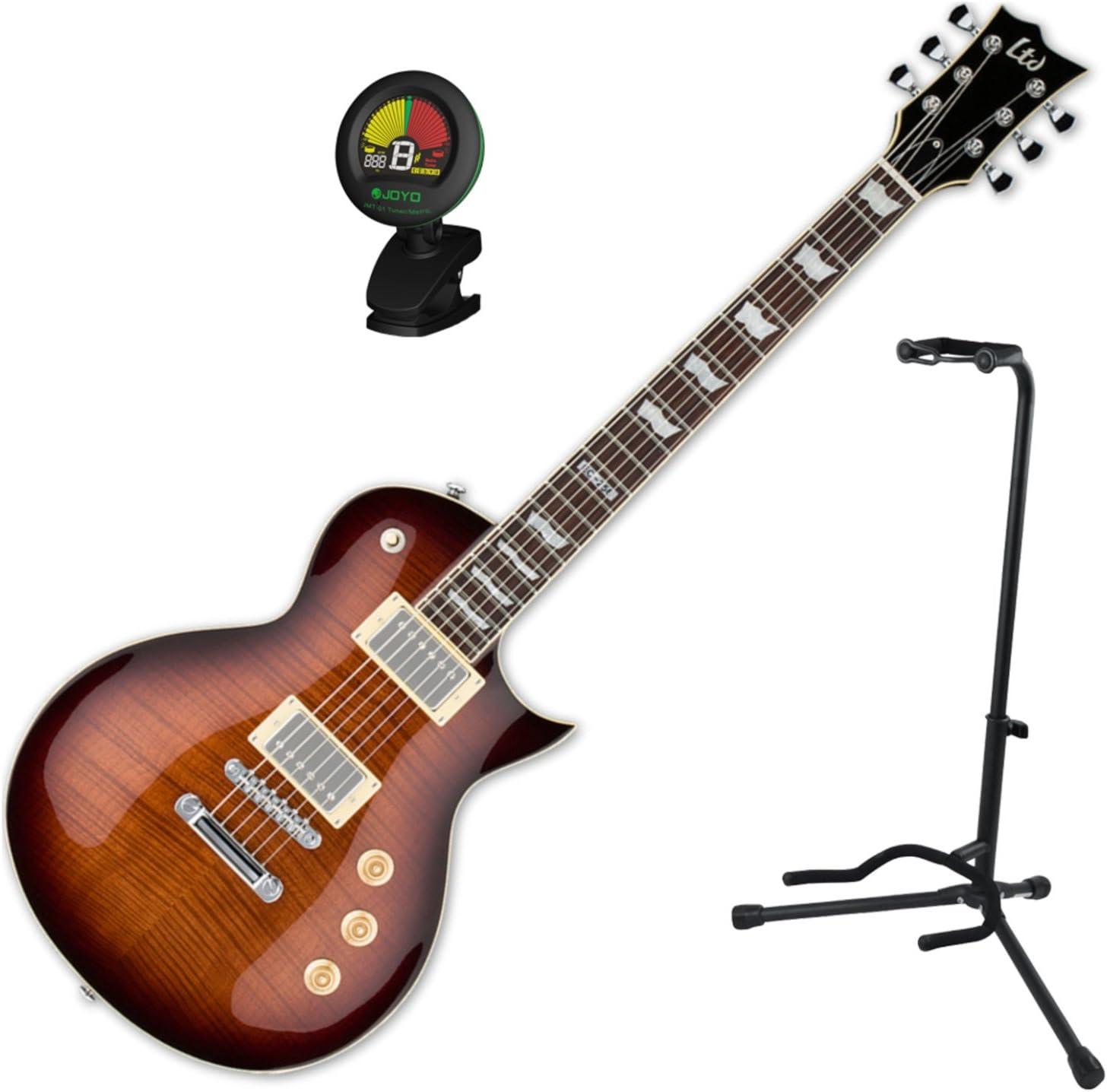 Esp EC-256 FM DBSB guitarra eléctrica w/stand y sintonizador: Amazon.es: Instrumentos musicales