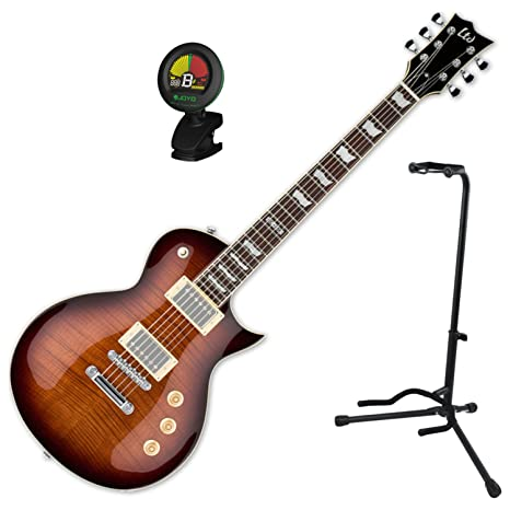 Esp EC-256 FM DBSB guitarra eléctrica w/stand y sintonizador