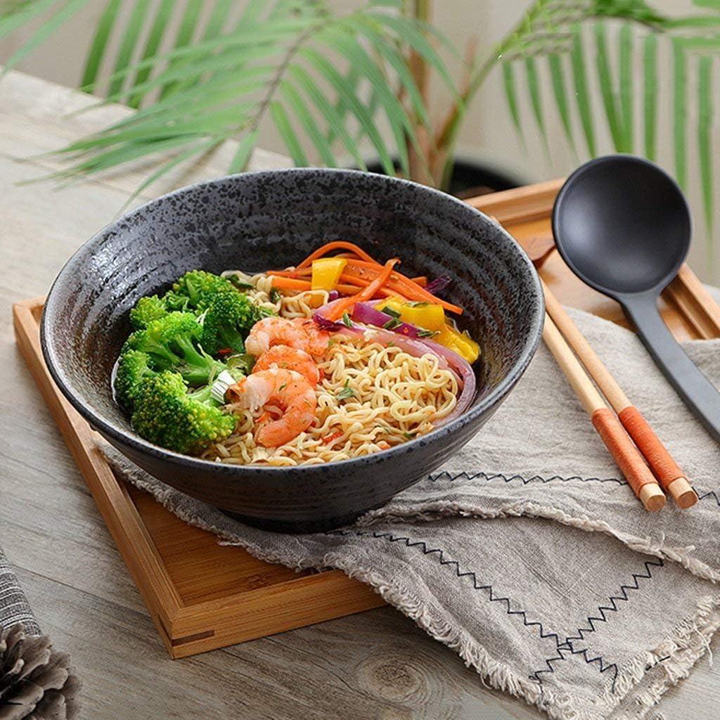 gr/ö/ße : 7 Zoll Gweat Japanischen Stil Kreative Vintage Keramik Salat Sch/üssel Pers/önlichkeit Ramen Tiefe Suppe Sch/üssel