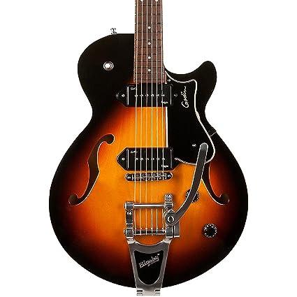 Godin Montreal Premiere guitarra hollowbody con P90s & Bigsby Sunburst