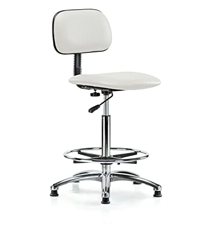 Fabulous Amazon Com Perch Chrome Lab Chair With Adjustable Basic Ibusinesslaw Wood Chair Design Ideas Ibusinesslaworg